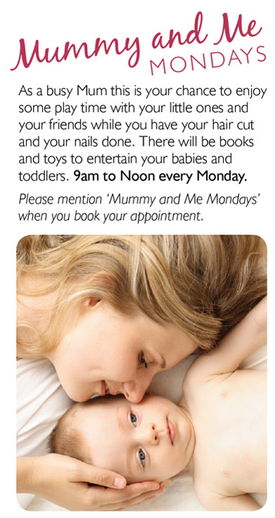 'Mummy & Me' Mondays Gina Conway Aveda Salons and Spas