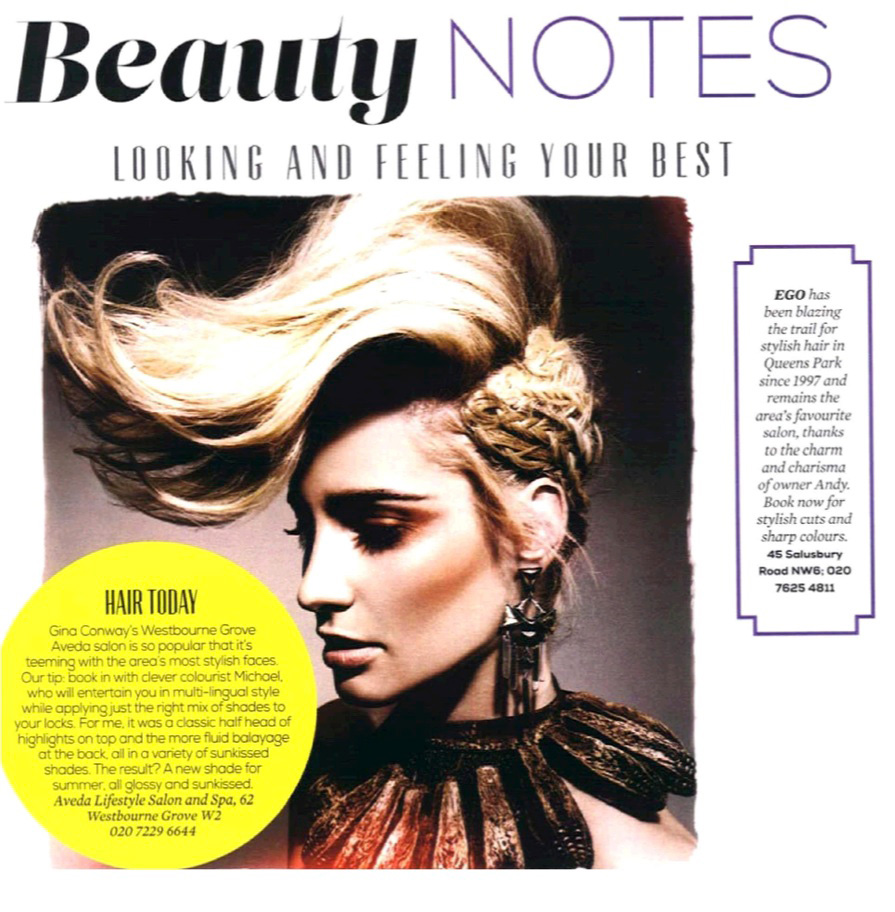 Press Archive Gina Conway Aveda Salons And Spas London England