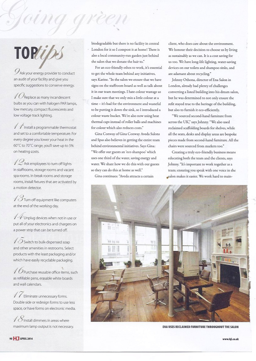 Press Archive | Gina Conway Aveda Salons and Spas | London, England